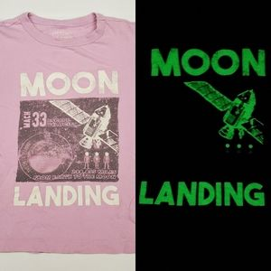 CREWCUTS FACTORY Glow in the Dark Moon Landing tee